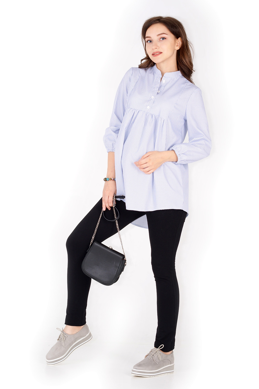 Блузка для вагітних з натуральної тканини. Вільний крой не сковує рухів, бавовна дозволяє шкірі дихати.