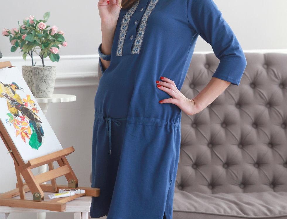 Платье УДАЧНЫЙ ДЕНЬ (синяя)