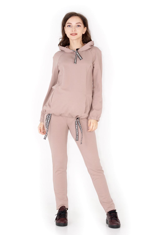 спортивний костюм для вагітних з натуральної ткани зручний одяг для вагітних та мам, що годують
