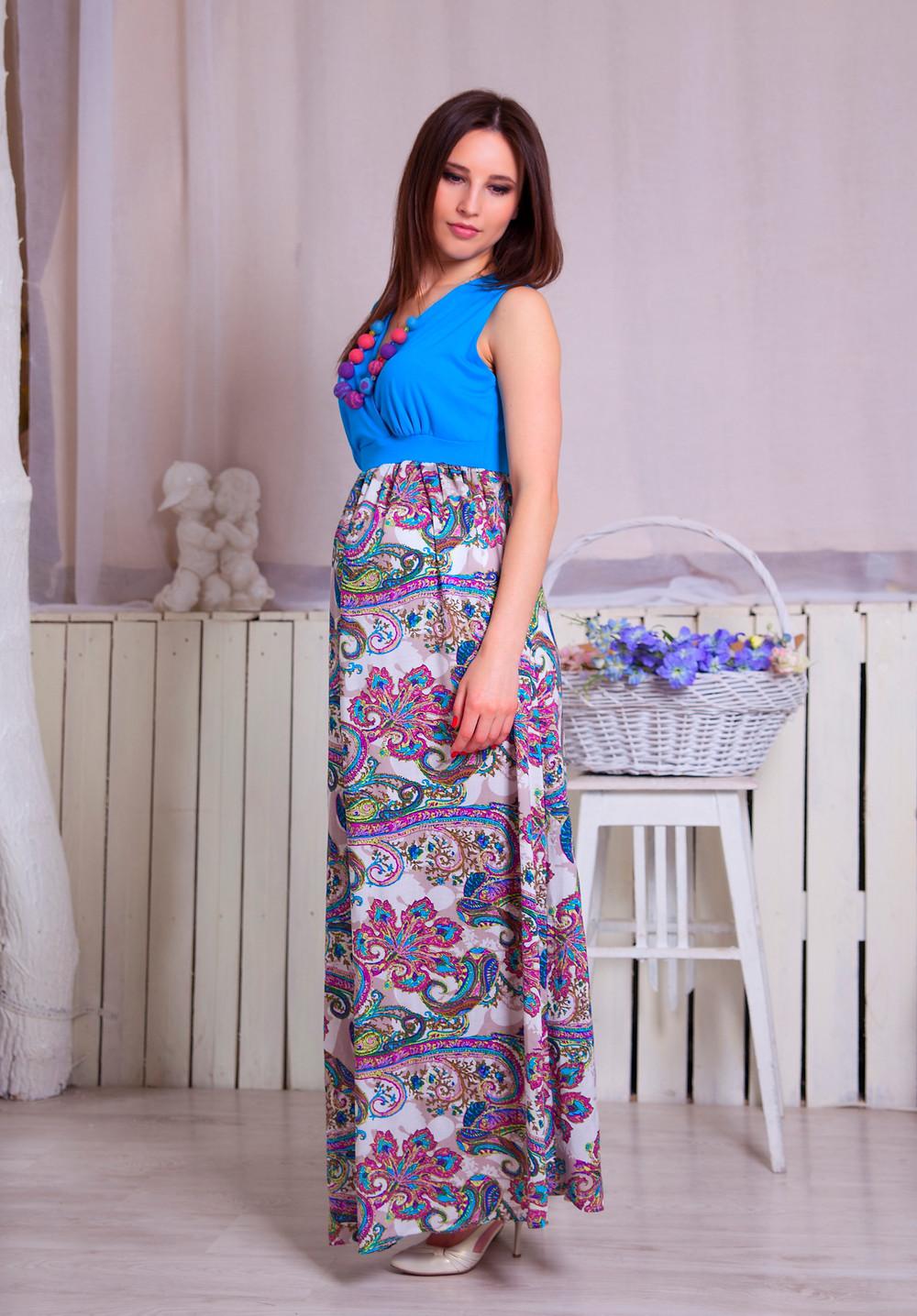 Плаття для вагітних нарядне з легкої тканини для літа
