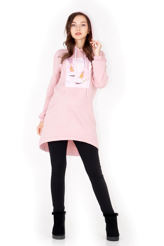 тепла туніка для вагітних- одяг для вагітних осінь-зима