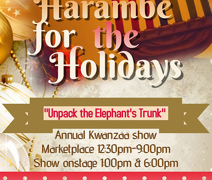 Flyer - Harambe for the Holidays, Unpack
