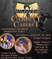 Flyer - Welcome to Wakanda Cosplay Cabar