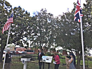 Union Flag flying over the site 2017