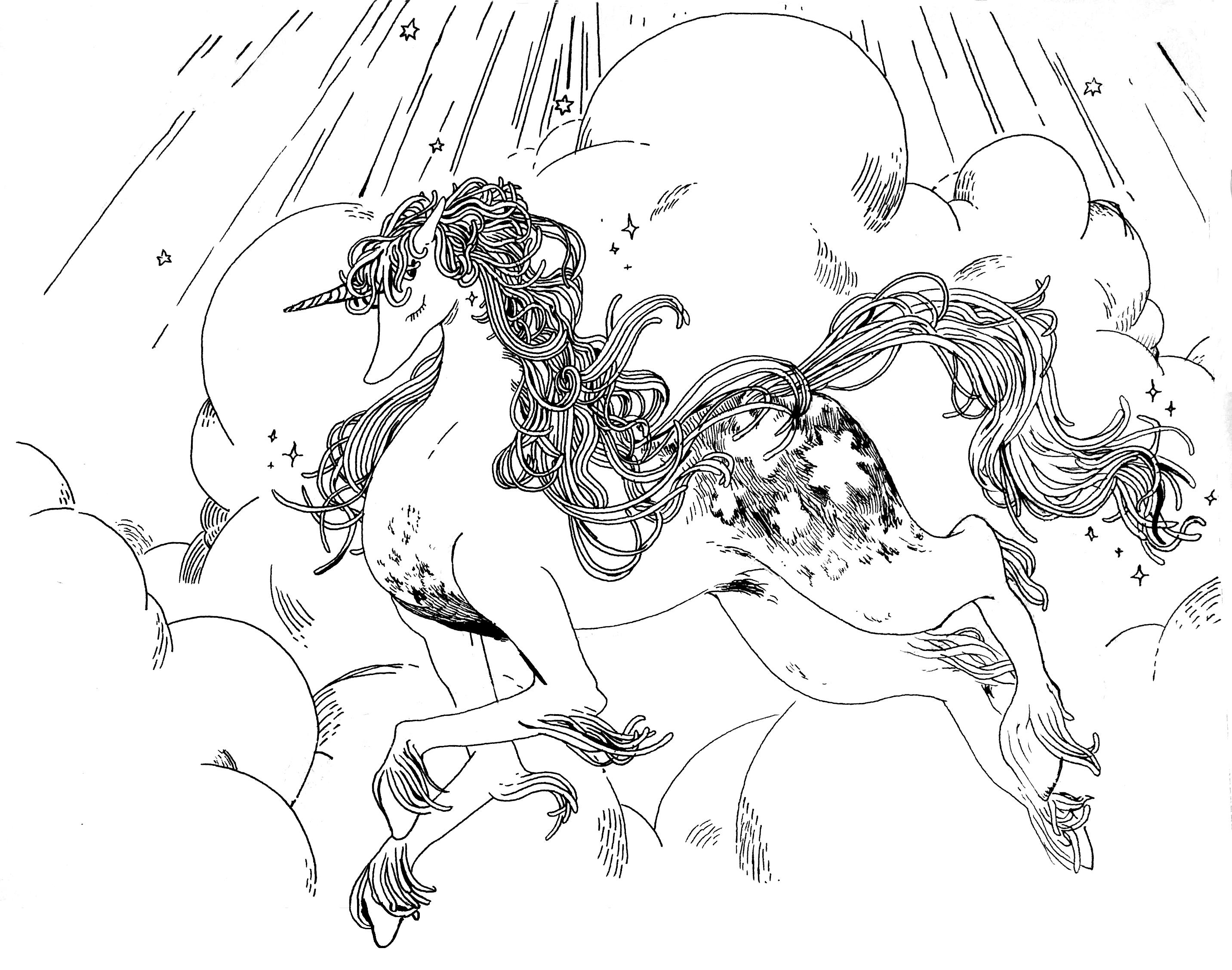spaggheti unicorn