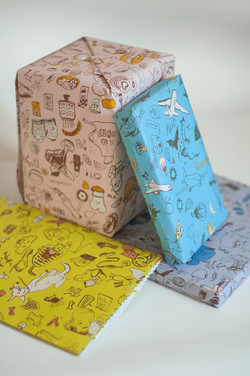 kids wrapping paper