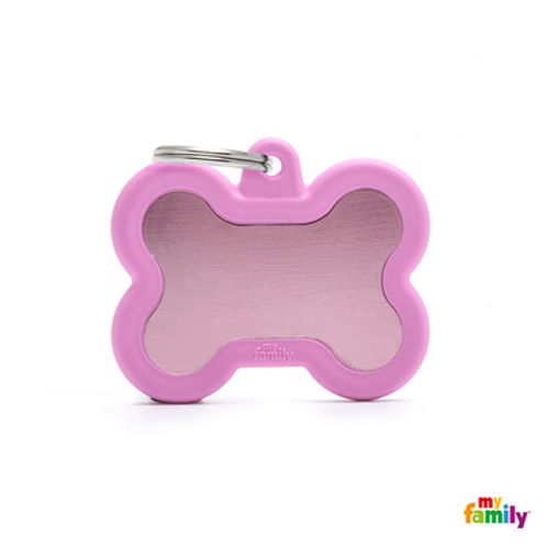 HUSHTAG - ALUMINIUM PINK BONE WITH PINK RUBBER