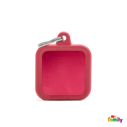 HUSHTAG - ALUMINIUM RED SQUARE WITH RED RUBBER