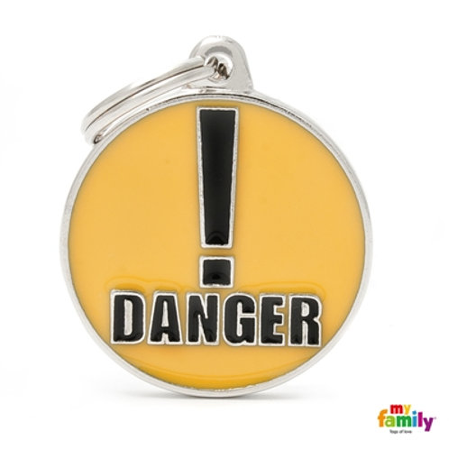 "ID TAG BIG CIRCLE ""DANGER"""