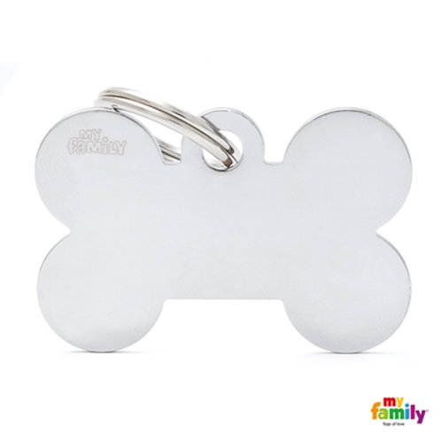 ID TAG BASIC COLLECTION BIG BONE IN CHROME PLATED BRASS