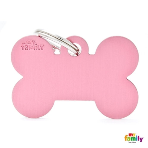 ID TAG BASIC COLLECTION BIG BONE PINK IN ALUMINUM