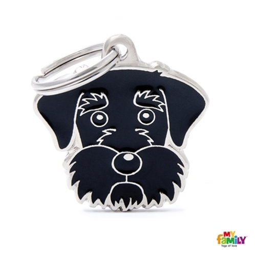 BLACK SCHNAUZER ID DOG TAG