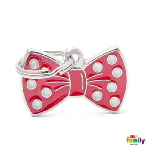 ID TAG BOW TIE RED