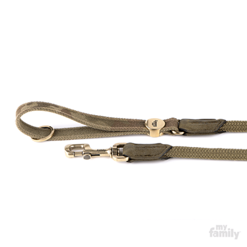 WEST POINT LEASH MILITARY GREEN NYLON AND CORD ENGLISH BRASS FINISHING
