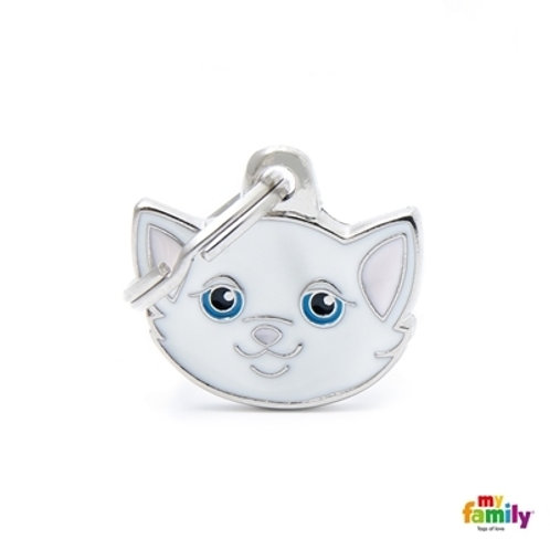 WHITE EUROPEAN SHORTHAIR CAT ID TAG
