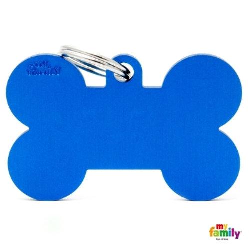 ID TAG BASIC COLLECTION BONE XL BLUE IN ALUMINIUM