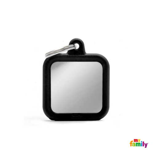 HUSHTAG - CHROMED SQUARE WITH BLACK RUBBER
