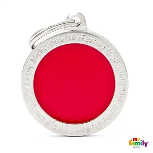 CLASSIC BIG RED CIRCLE ID TAG