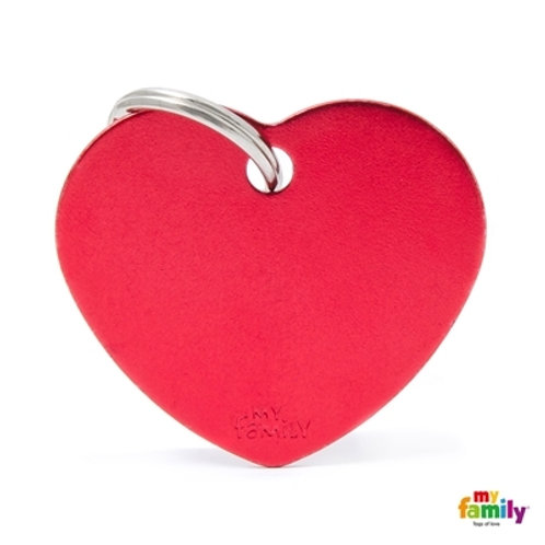 ID TAG BASIC COLLECTION BIG HEART RED IN ALUMINUM