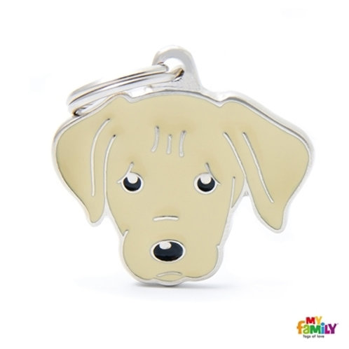 CREAM LABRADOR ID DOG TAG