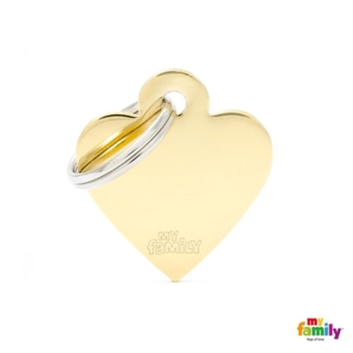 ID TAG BASIC COLLECTION SMALL HEART IN GOLDEN PLATED BRASS
