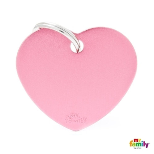 ID TAG BASIC COLLECTION BIG HEART PICK IN ALUMINUM