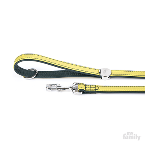 FIRENZE LEASH LIME LEATHER WHITE BRONZE FINISHING