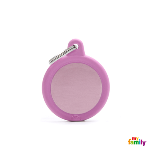 HUSHTAG - ALUMINIUM PINK CIRCLE WITH PINK RUBBER