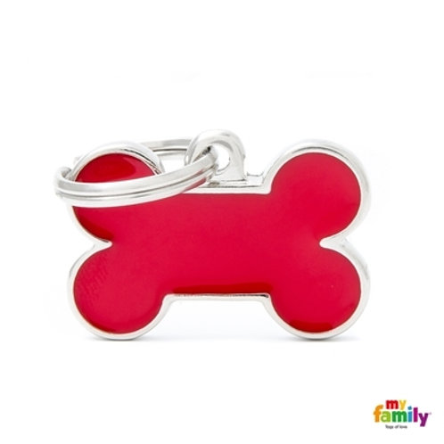 BASIC HANDMADE SMALL RED BONE ID TAG