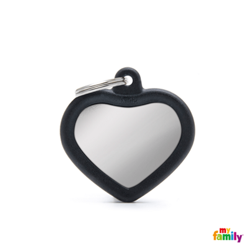 HUSHTAG - CHROMED HEART WITH BLACK RUBBER