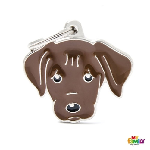 CHOCOLATE LABRADOR ID DOG TAG