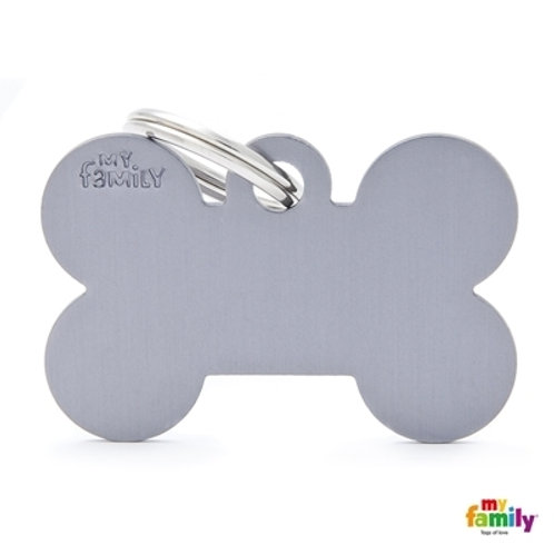 ID TAG BASIC COLLECTION BIG BONE GREY IN ALUMINUM