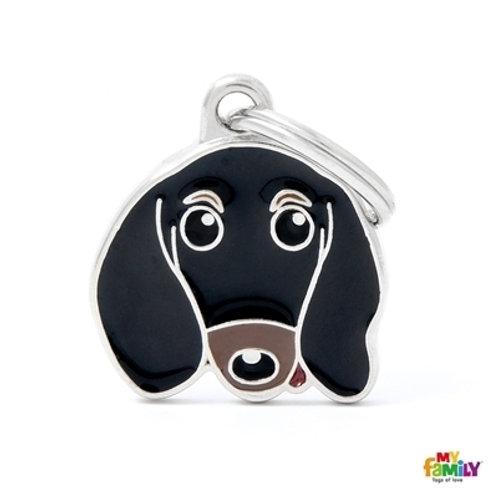 BLACK & TAN DACHSHUND ID DOG TAG