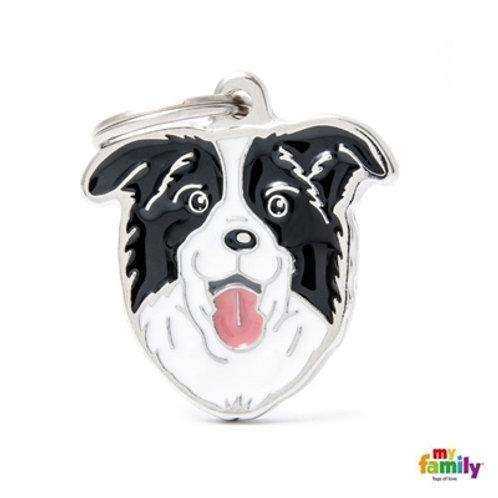 BORDER COLLIE ID DOG TAG