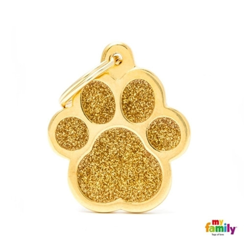 "SHINE ""BIG PAW GOLD GLITTER"" ID TAG"