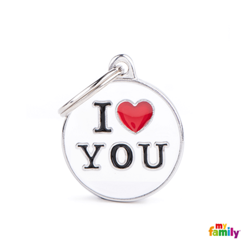 "ID TAG MEDIUM CIRCLE ""I LOVE YOU"""