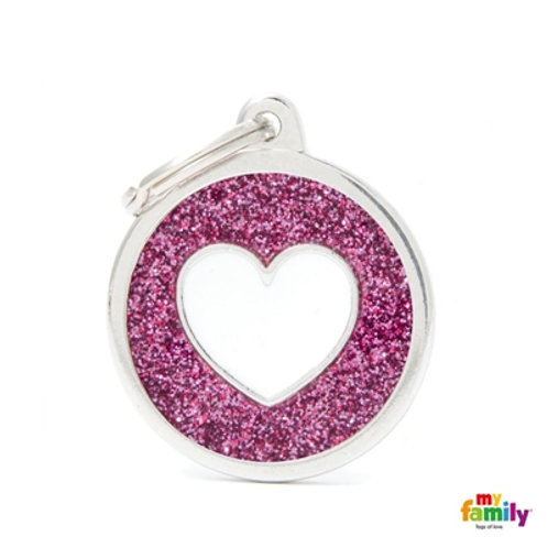 MyFamily Pet Tags Red Heart