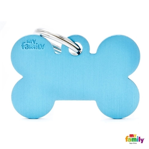 ID TAG BASIC COLLECTION BIG BONE LIGHT BLUE IN ALUMINUM