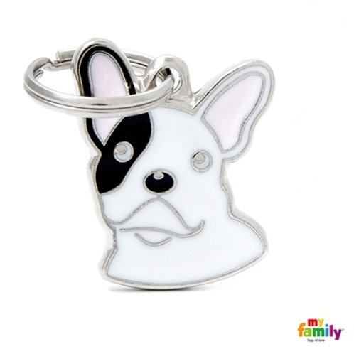 BLACK AND WHITE FRENCH BULLDOG ID DOG TAG