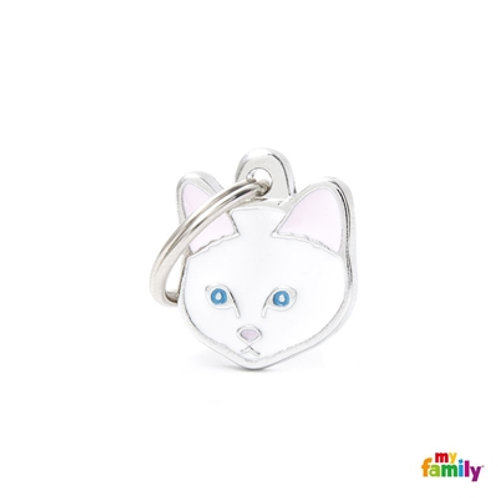 NEW WHITE EUROPEAN SHORTHAIR CAT ID TAG