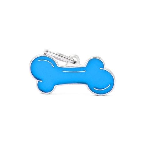 CLASSIC SMALL LIGHT BLUE BONE ID TAG
