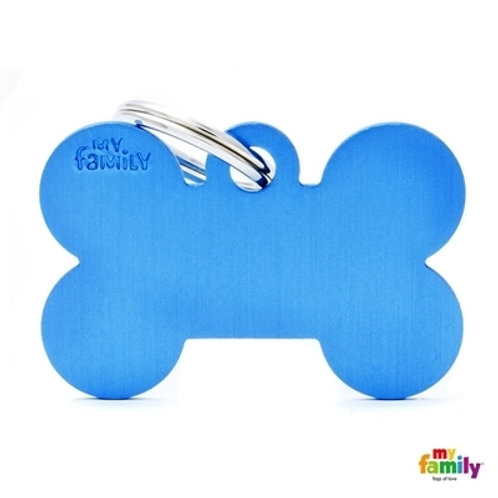 ID TAG BASIC COLLECTION BIG BONE BLUE IN ALUMINUM