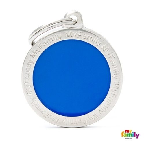 CLASSIC BIG BLUE CIRCLE ID TAG
