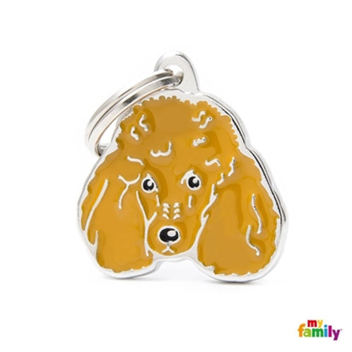 NEW APRICOT POODLE ID DOG TAG
