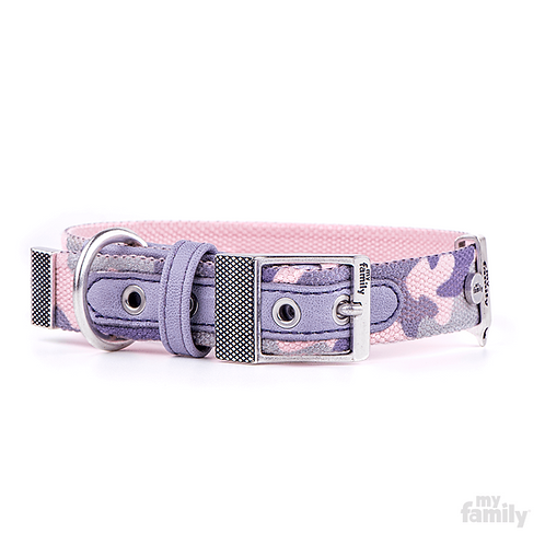 WEST POINT COLLAR MILITARY PINK NYLON ANTIQUE SILVER FINISHING