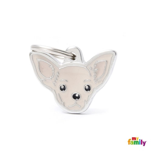 NEW CREAM CHIHUAHUA ID DOG TAG
