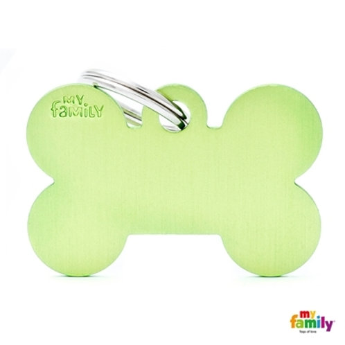 ID TAG BASIC COLLECTION BIG BONE GREEN IN ALUMINUM