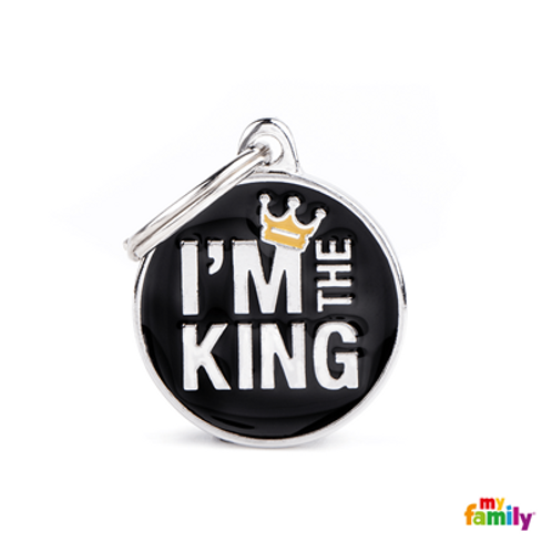 "ID TAG MEDIUM CIRCLE ""I'M THE KING"""