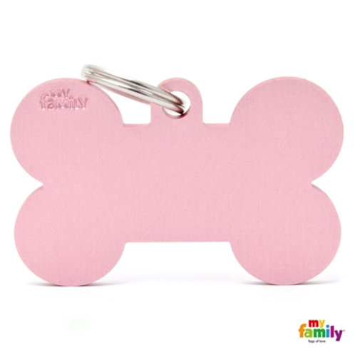 ID TAG BASIC COLLECTION BONE XL PINK IN ALUMINIUM