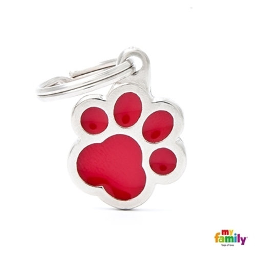 CLASSIC RED PAW ID TAG